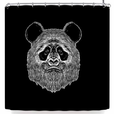 BarmalisiRTB Bigfoot Panda Shower Curtain