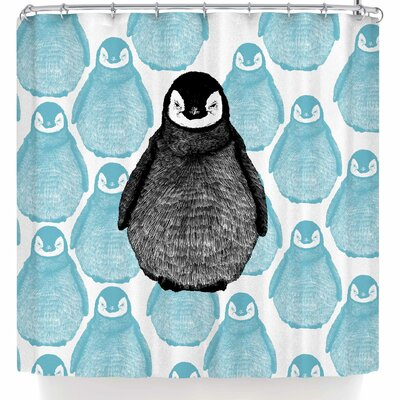 BarmalisiRTB Penguin Shower Curtain