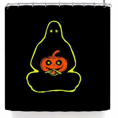BarmalisiRTB Halloween Meditation Shower Curtain