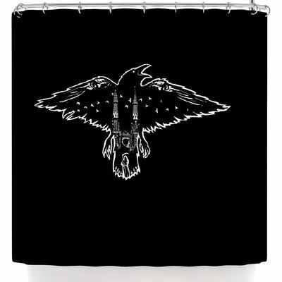 BarmalisiRTB Dead Crow Shower Curtain