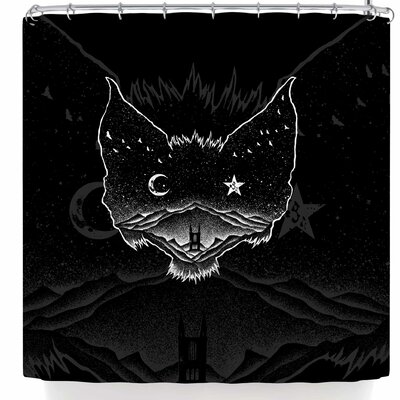BarmalisiRTB Bat Night Shower Curtain