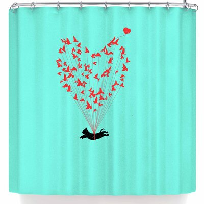 BarmalisiRTB Flying Cat Shower Curtain