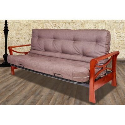 Diablo Convertible Sofa Size: Full, Upholstery: Light Brown, Color: Dark Cherry