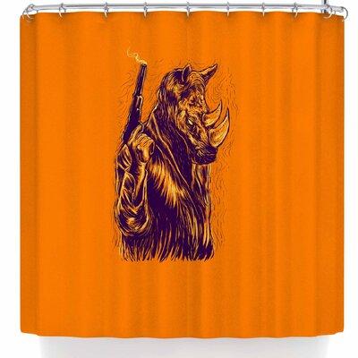 BarmalisiRTB Rhinoceros Shower Curtain