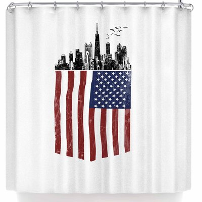 BarmalisiRTB American City Shower Curtain