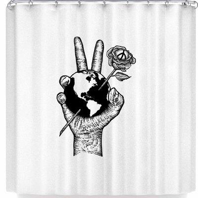 BarmalisiRTB Peace World Shower Curtain
