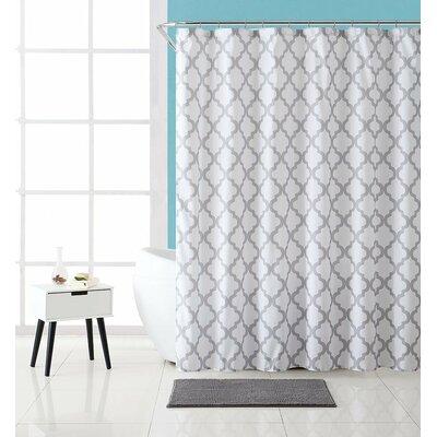 Arden Bath And Fabric Lattice Shower Curtain Set