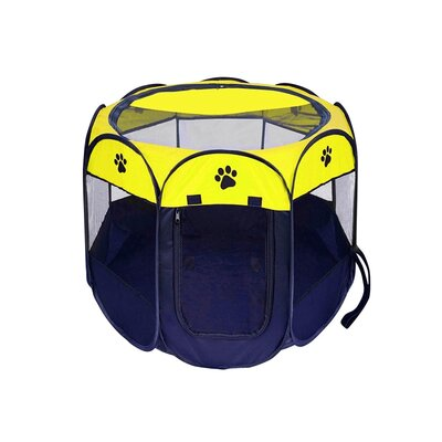Octagon Play Pet Pen Size: 17 H x 29 W x 29 D, Color: Yellow/Black
