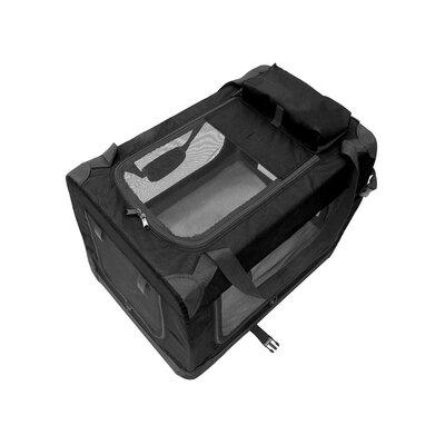 Heavy Duty Collapsible Portable Home Spacious Traveler Pet Carrier Size: 19.5 H x 26 W x 19.5 D, Color: Black