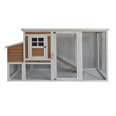 Multi-Level Wooden Chicken Coop