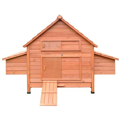 Multi-Level Wooden Chicken Coop
