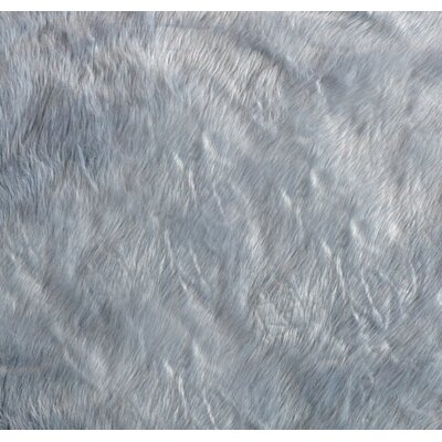 Deshazo Faux Sheepskin Gray/White Area Rug Rug Size: Rectangle 4x 6