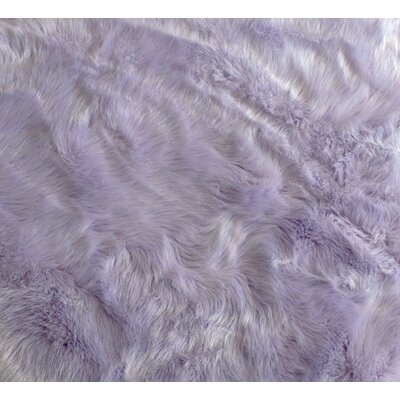 Demetra Faux Sheepskin Lavender/White Area Rug Rug Size: Rectangle 4x 6