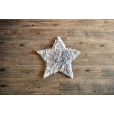Deshazo Faux Sheepskin Gray/White Area Rug Rug Size: Novelty 2 x 2