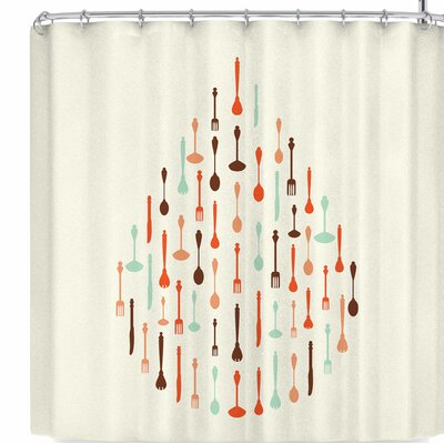 Afe Images Afe Cutlery Icons Shower Curtain