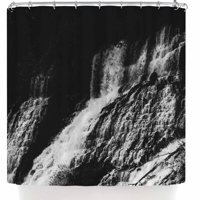 Ann Barnes Forest Waterfall Shower Curtain