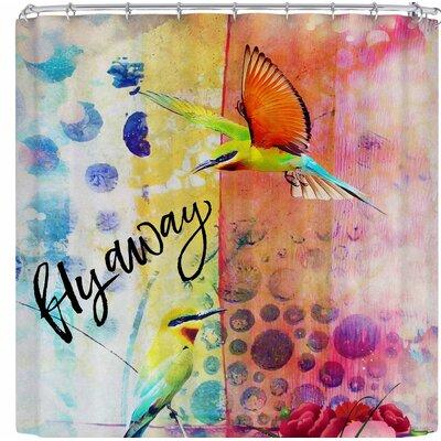 Alyzen Moonshadow Fly Away Shower Curtain