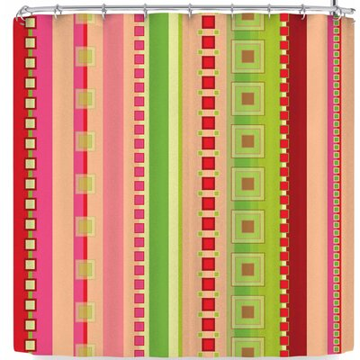 Allison Soupcoff Festive Stripes In Shower Curtain