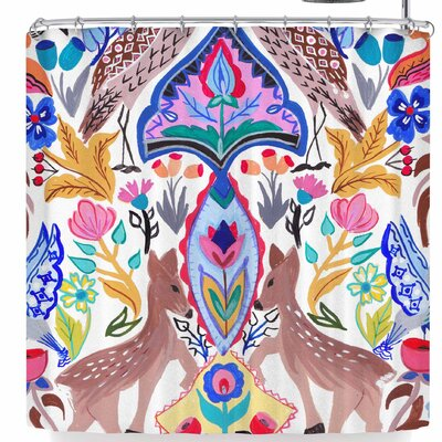 Agnes Schugardt Symmetric Folk Shower Curtain