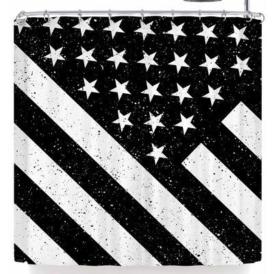 Bruce Stanfield Us Flag B&W Shower Curtain