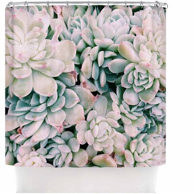 Succulent Blush Shower Curtain