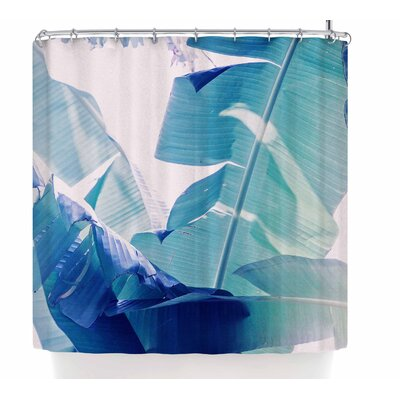 Ann Barnes Banana Leaf Shower Curtain