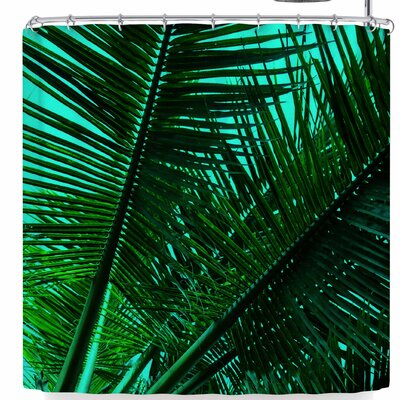Pia Schneider Greenery Palm Leaves V2 Shower Curtain
