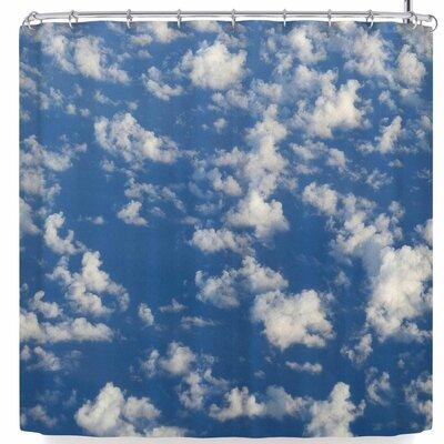 Rosie Brown Cotton Clouds Shower Curtain