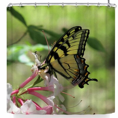 Rosie Brown Gibbs Garden Butterfly Shower Curtain