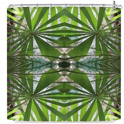 Rosie Brown Palm Fronds Shower Curtain