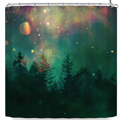 Robin Dickinson Find Your Adventure Shower Curtain