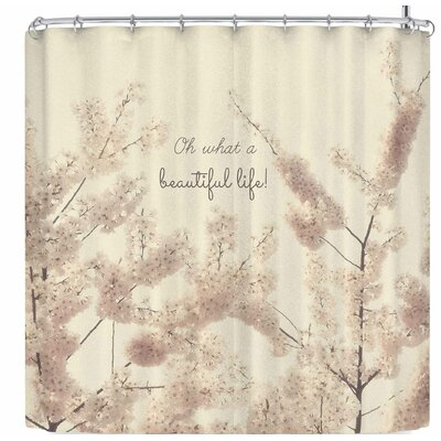 Robin Dickinson Oh What A Beautiful Life Shower Curtain