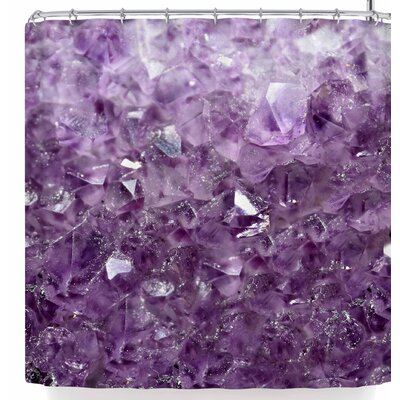 Robin Dickinson Amethyst Sparks Shower Curtain