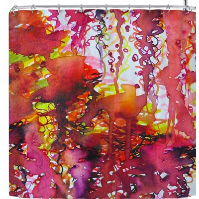 Ebi Emporium The Perfect Storm Shower Curtain Color: Red/Pink
