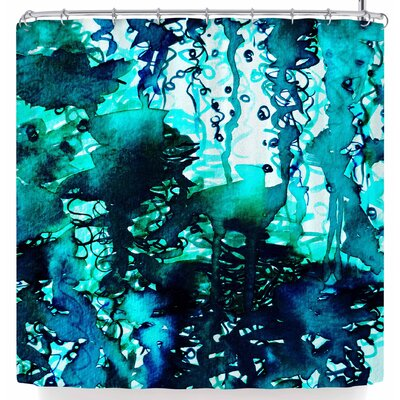 Ebi Emporium The Perfect Storm Shower Curtain Color: Turquoise/Teal Blue