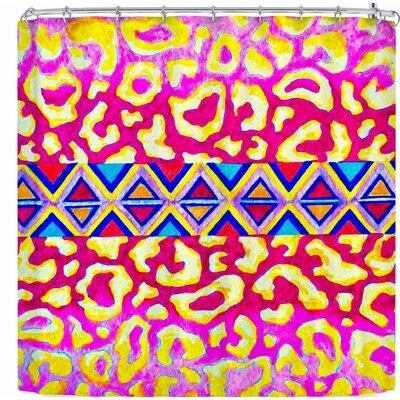 Ebi Emporium The Tribal Leopard Shower Curtain Color: Pink