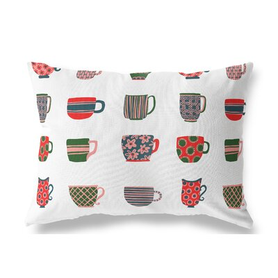 Cosner Tea Cups Indoor/Outdoor Throw Pillow