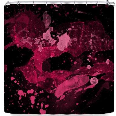 Rosa Picnic Splatter-1 Shower Curtain