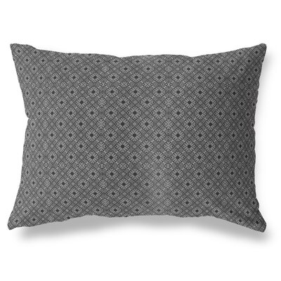 Liam Indoor/Outdoor Lumbar Pillow Color: White/Black