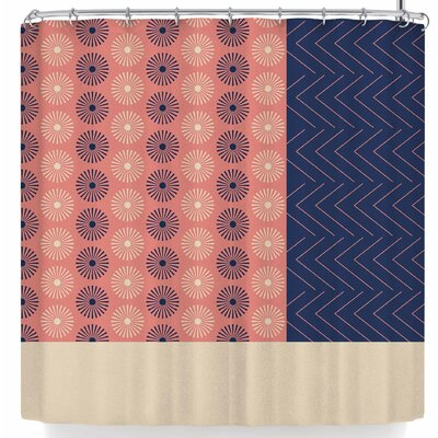 AFE Images Afe Geometric Abstract Shower Curtain