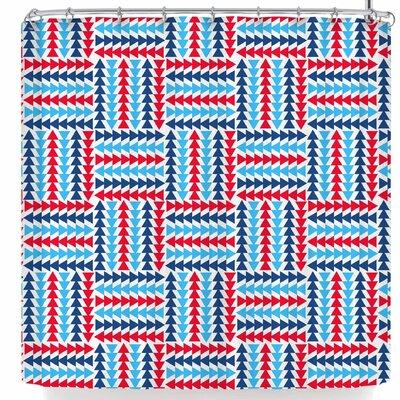 AFE Images Afe Abstract Basket Weave Shower Curtain