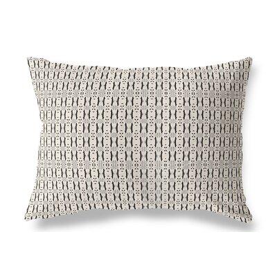 Liang Indoor/Outdoor Lumbar Pillow Color: Black/Tan