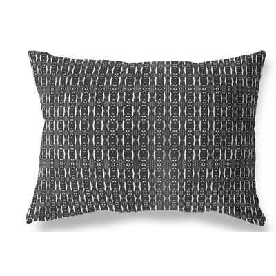 Liang Indoor/Outdoor Lumbar Pillow Color: White/Black