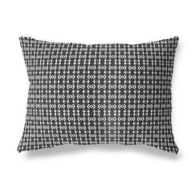 Liao Indoor/Outdoor Lumbar Pillow Color: White/Black