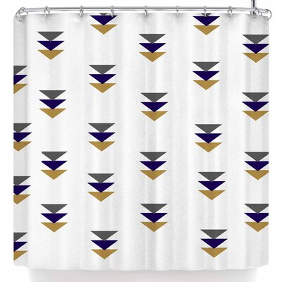 Jennifer Rizzo Random Falling Triangles Shower Curtain