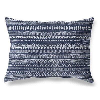 Christenson Indoor/Outdoor Lumbar Pillow Color: Blue/White