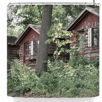 Jennifer Rizzo Rustic Cabins Shower Curtain