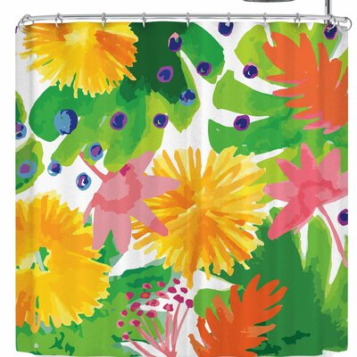 Billington Tropical Flowers Burst Shower Curtain