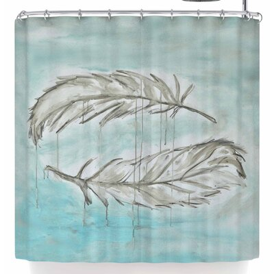 Jennifer Rizzo Feathers From Above Shower Curtain