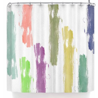 Jennifer Rizzo Party Stripes Shower Curtain